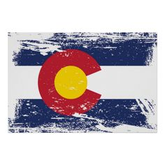 Grunge Colorado Flag Print