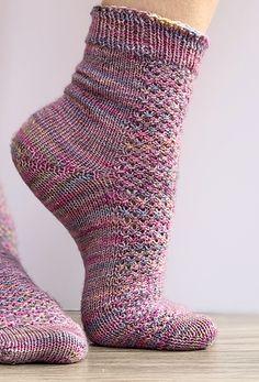 Ravelry: Hedgehog Socks pattern by Sheila Bond - Home & DIY Pdf Sewing Patterns, Knitting Patterns Free, Knit Patterns, Knit Sock Pattern, Ravelry, Knitting Stitches, Knitting Socks, Knit Socks, Elf Slippers