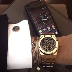 Anil Arjandas Jewellery, Audemars Piguet watch, Vertu phone
