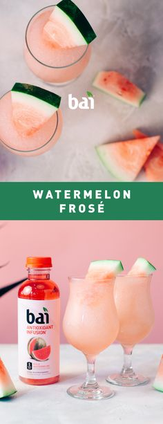 Watermelon Frosé is the perfect cocktail for when you just need to chill. With fruit flavor this good you'll never want to let it gooo. Must be 21+. Please drink responsibly.