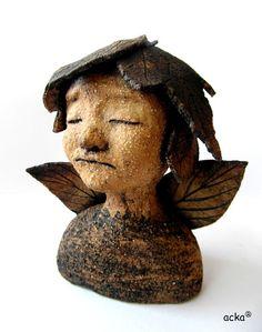"""Metsänenkeli"" by acka,Finland Lovely Things, Ceramic Art, Finland, Buddha, Album, Statue, Ceramics, Sculptures, Card Book"