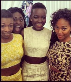 crop tops | Lupita Nyong'o, Nicole Beharie of Sleepy Hollow, and Samira Wiley and Danielle Brooks of Orange is the New Black