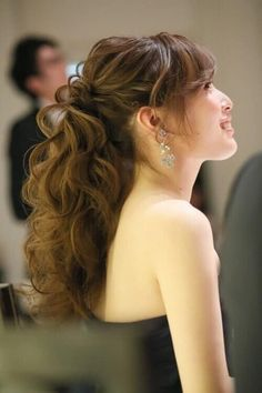 ブライダルページ Hairdo Wedding, Hair Arrange, Hair Setting, How To Make Hair, Bride Hairstyles, Bridal Style, Bridal Hair, Hair Care, Hair Makeup