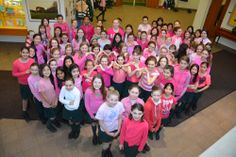 Junior School students form a heart for Pink Shirt Anti-Bullying Day! #PinkShirtDay