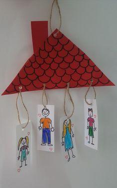 Family Theme Craft Idea Family Theme Craft Idea Craft Ideas Kindergarten Die R . Preschool Family Theme, Family Crafts, Preschool Crafts, Family Activities, All About Me Preschool Theme, All About Me Crafts, Toddler Crafts, Crafts For Kids, Arts And Crafts