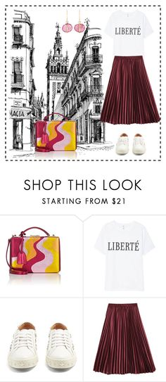 """""""Summer"""" by abedul ❤ liked on Polyvore featuring Mark Cross, Aquazzura and Melissa Joy Manning"""