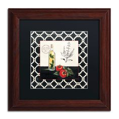 Basil and Tomatoes by Marco Fabiano Matted Framed Graphic Art