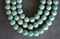 8mm Amazonite Beads, Stone Beads,  Smooth Round, Stone Beads, Aqua Amazonite Stone, 10 Beads, Aqua Stone Beads by TheBeadBandit on Etsy
