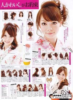 Hairstyle for yukata