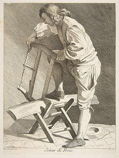 Wood Cutter, Anne Claude de Tubieres, etching with some engraving, 1742.