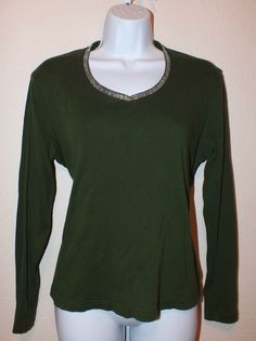 Talbots Casual Long Sleeve Women's Top Blouse Shirt  Size L  #Talbots #Blouse #Casual