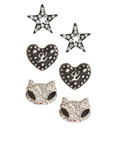 Lipsy Pack Of Three Stud Earrings