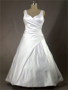 Ball Gown Sleeveless Lace Up Floor Length Taffeta Wedding Dress WD1258 www.tidedresses.co.uk $220.0000