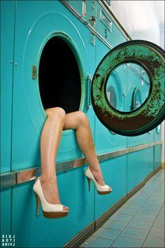 Na lavanderia MissLaurelle