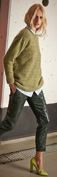 No 21 Fall 2014 Sparkle Trousers ● ✤ LadyLuxury✤