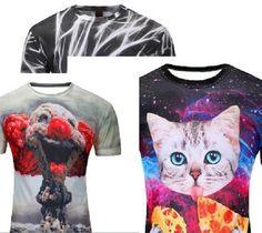 Fashion Men Women 3D Graphing T Shirt Top Short Sleeve Casual Tee Cat USA Seller | eBay