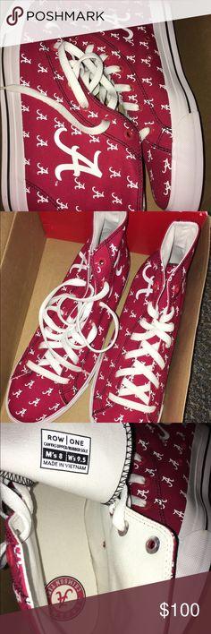 Alabama Crimson Tide Row One Sneakers NIB 9.5 Alabama Crimson Tide Row One Sneakers NIB 9.5 roll tide shoes!! Row One brand Row One Shoes Sneakers