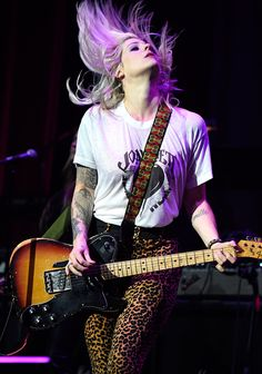 Brody Dalle performs onstage during The 6th Annual Little Kids Rock Benefit at Hammerstein Ballroom on October 23 2014 in New York City