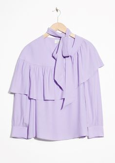 & Other Stories | Frill Blouse in Blue