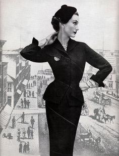 39bc710d5de Highly contoured 1950s suit  vintage  fashion  1950s  suit Jane Russell