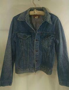 Levi's Jean Jacket Vintage Made In USA 40L Red Tab Trucker 2 Pocket #Levis #JeanJacket