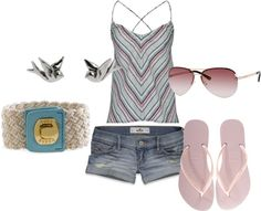 """summer"" by ktlynn08 ❤ liked on Polyvore"