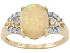 Ethiopian Opal and Diamond Ring #opalsaustralia