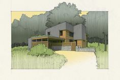 "Tom Bassett-Dilley Architect, Ltd., new Passive House, Downers Grove, IL ""Acorn Glade"""