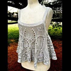 "Selling this ""Free People gray swing tank Carefree Crochet Tank"" in my Poshmark closet! My username is: richbororiches. #shopmycloset #poshmark #fashion #shopping #style #forsale #Free People #Tops"