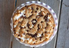 S'mores Pie! Perfect for tasting the fun without the bonfire.