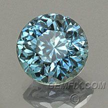round denim blue sapphire from Montana