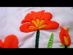 Satin Stitch Flower - Hand Embroidery Tutorial - Embroidery Patterns