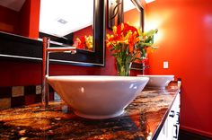 Bathroom Remodeling Ideas with Red Colors | House Decorating Ideas