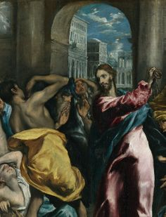 """""""Christ Driving the Money Changers From the Temple"""" (detail), c.1595, El Greco."""