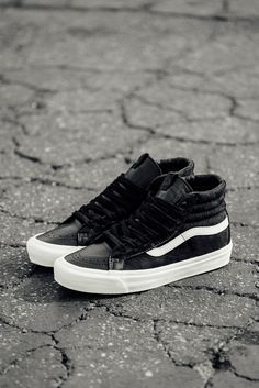 27f4f5b8b5 Vans Vault OG Sk8-Hi LX  Vans  VansVault  Sk8Hi  Leather  Fashion   Streetwear  Style  Urban  Lookbook  Photography  Footwear  Sneakers  Kicks   Shoes