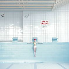 Juxtapoz Magazine - Maria Svarbova: In the Swimming Pool Pool Photography, Conceptual Photography, Fashion Photography, Abstract Photography, Amazing Photography, Photography Ideas, Bratislava, Pool Fotografie, Empty Pool