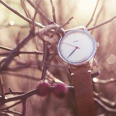 Miró Watches — Creme Face Nature Strap - Autumn