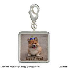 Loyal and Royal Corgi Puppy Charms
