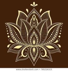 Mehndi lotus flower pattern for Henna drawing and tattoo. Decoration in ethnic oriental, Indian style. Mehndi lotus flower pattern for Henna drawing and tattoo. Decoration in ethnic oriental, Indian style. Flower Tattoo Designs, Henna Designs, Flower Tattoos, Lotus Design Tattoos, Mehndi, Small Quote Tattoos, Small Tattoos With Meaning, Script Tattoos, Flower Motif