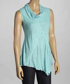Love this Sea Breeze Cowl Neck Tank - Women by Sno Skins on #zulily! #zulilyfinds