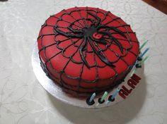 spiderman cake, spiderman birthday cake, boys birthday cake, superhero birthday cake, spiderman cake, easy spiderman cake, spider cake red a...
