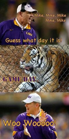 LSU. It's game day folks!!!!!!!!!!!!!!!!!!!!!!!!