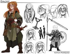 """the-orator: """" So this was the final for my Gesture class, in which we had to design a character. I opted for two characters because its easier for me to develop characters when I'm working with more than one. I decided to go with a Norse and Turkish. Character Design Cartoon, Character Design References, Fantasy Character Design, Character Design Inspiration, Character Concept, Character Art, Concept Art, Paladin, Fantasy Characters"""