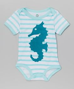 Another great find on #zulily! Blue Stripe Seahorse Bodysuit - Infant #zulilyfinds