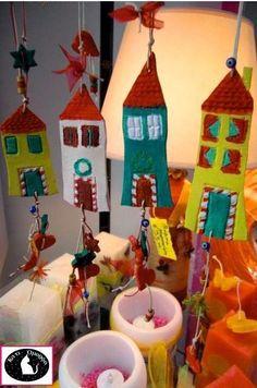 Κάτι Όμορφο Clay Crafts, Diy And Crafts, Crafts For Kids, Christmas Mood, Xmas, Christmas Tree Decorations, Holiday Decor, Educational Crafts, Pebble Art