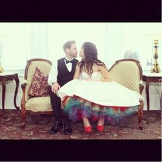 Say Yes to the Dress... Love this show and LOVE the rainbow tulle under her dress <3