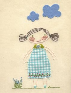 playing with fabric, felt and embroideryfloss - by Marieke van Esveld via Flickr