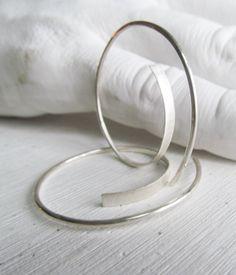 large sterling hoops earrings
