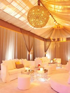 lounge area at a wedding reception