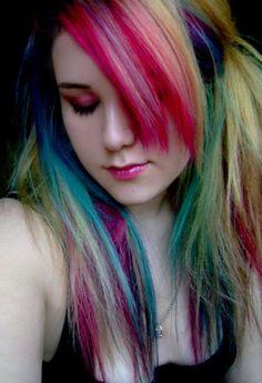 rainbow hair dye by melva